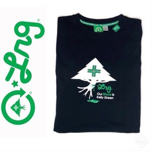 "LRG Men's OUR BLOOD IS KELLY GREEN"" Tee Sz XL"
